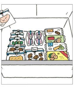 冷凍室はジッパー袋収納